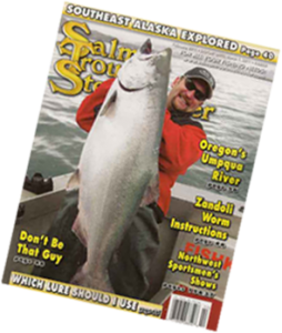 Fish kodiak Adventures alaska kodiak king salmon derby entry cover of salmon trout steelhead magazine